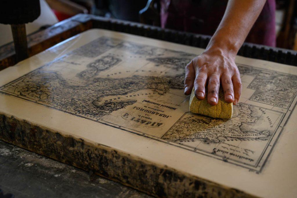 pulizia lastra pietra litografia fotografo artigiani