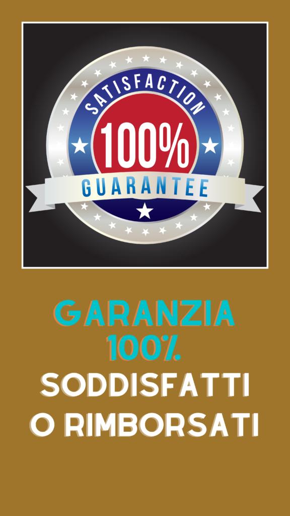 Garanzia soddisfatti o rimborsati scritta con logo versione mobile
